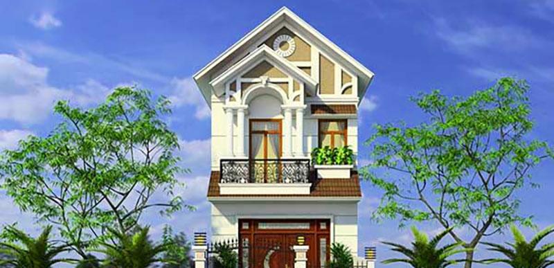 Những màu sơn cho mặt tiền nhà mái thái 2 tầng đẹp - Kienthucsonnuoc.vn