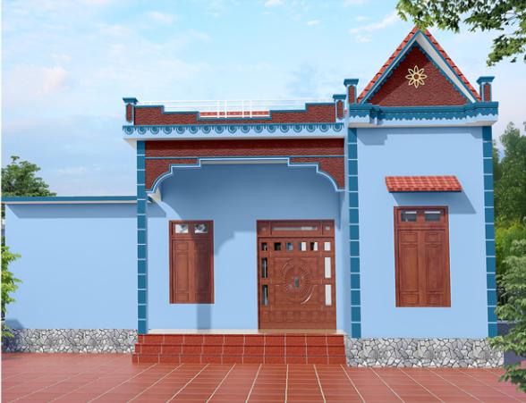 Những màu sơn đẹp cho mặt tiền nhà cấp 4 - Kienthucsonnuoc.vn