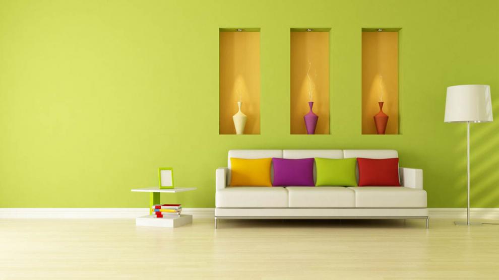 Sang trọng hơn khi sơn phòng khách màu xanh lá cây - Kienthucsonnuoc.vn