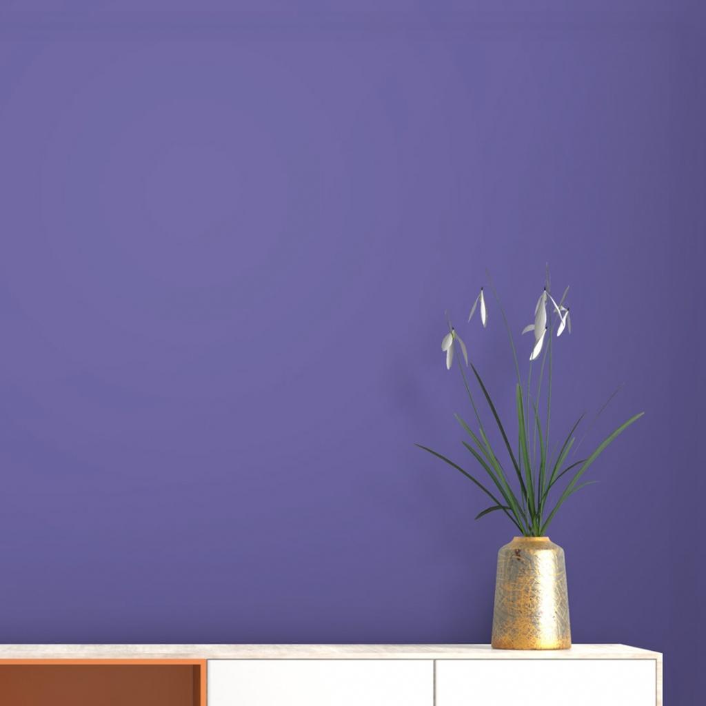 Sơn phòng ngủ màu tím đầy lãng mạn - Kienthucsonnuoc.vn