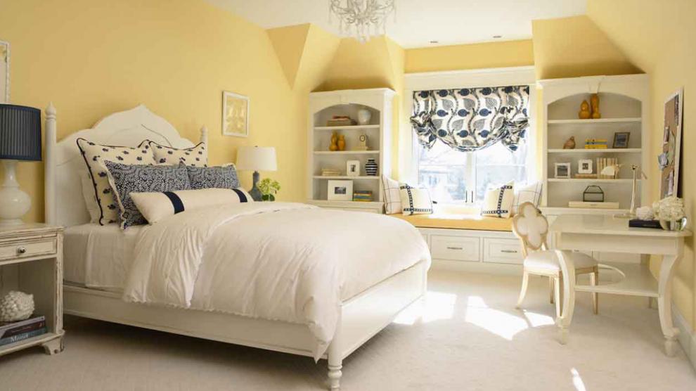 Sơn phòng ngủ màu vàng nhạt đẹp - Kienthucsonnuoc.vn